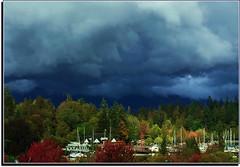 Rain Coming (FernShade) Tags: vancouverbc coalharbour stormclouds rainclouds clouds sky