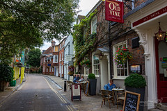 Winchester 13 August 2018 00353.jpg (JamesPDeans.co.uk) Tags: ivy alfresco landscape street printsforsale table unitedkingdom commerce britain chairs wwwjamespdeanscouk creepers brickbuilt europe uk digitaldownloadsforlicence forthemanwhohaseverything england flowers plants nature greatbritain yellowlines roadsigns building pub scaffold landscapeforwalls gb hampshire architecture roads winchester eateries objects jamespdeansphotography