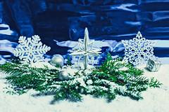 Beautiful white snowflakes on the branches of a Christmas tree with snow (wuestenigel) Tags: shines silver winter gift snowflake balls three background holiday new blue shiny branch christmas year snow stars branches toys white weihnachten schneeflocke schnee decoration dekoration frost season jahreszeit celebration feier merry fröhlich desktop eve vorabend fir pine kiefer glisten glitzern cold kalt newyear neujahr shining leuchtenden card karte tree baum greeting grus