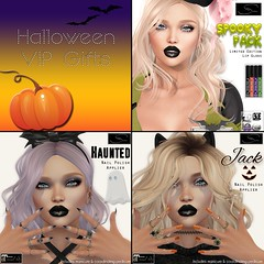 Stellar Halloween VIP Gifts (Lexi★Morgan) Tags: stellar secondlife leximorgan vipgifts gifts halloweengifts lelutka catwa omega maitreya makeup nailpolish lipgloss