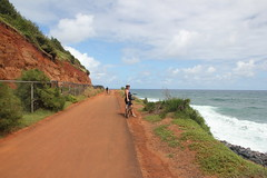 Lori and Rachel Biking (kahunapulej) Tags: lori rachel johnson bike bicycle path kauai pacific ocean coast shoreline