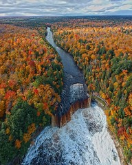 Taquamenon Falls (Daniel000000) Tags: waterfall falls upper peninsula mi michigan up river trees fall autumn water sky landscape nature new art color oramge greem white brown october dji drone spark clouds colorful colors instagram explore adventure pure travel vacation trip roadtrip hills midwest usa america