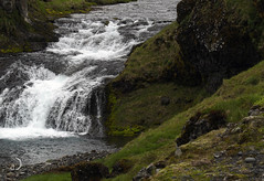 Cascade à Olafsvik/Cascade in Olafsvik  (enhanced) (bd168) Tags: cascade eau water river rivière summer été islande iceland volcanicsoil volcans lave lava em10markii m14150f456iied