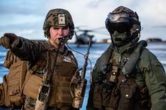 US Marines land in Keflavik, Iceland (NATO) Tags: exercisetridentjuncture exercisetridentjuncture2018 iceland mv22ospreys nato northatlantictreatyorganization norway osprey ospreys seastallion seastallions tridentjuncture tridentjuncture2018 us usmarinecorps usmarines usmc unitedstates arctic helicopter tiltrotor training