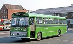 Bickers, Coddenham: LVV124P in Ipswich Old Cattle Market bus station (Mega Anorak) Tags: bus bedford yrt willowbrook bickerscoddenham unitedcounties ipswich