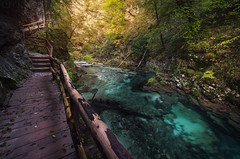 Vintgar Gorge (Bled Gorge) Slovenia (Russell Eck) Tags: vintgar bled gorge slovenia europe radovna river water nature scenery landscape wilderness amazing russell eck gorje sum falls valley cliff walls travel