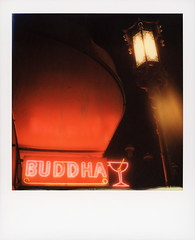 Buddha Bar Neon (tobysx70) Tags: polaroid originals color 600 instant film slr680 roidweek roid week polaroidweek fall autumn october 2018 buddha bar neon grant avenue chinatown san francisco california ca sign lit illuminated cocktail glass night nocturnal chinese lantern street light awning orange pink polawalk polavacation 042618 day3 hancock photography