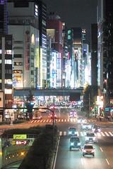 Ginza, Tokyo, Japan (Plan R) Tags: night evening ginza shimbashi tokyo urban city sign leica m 240 summilux 35mm