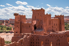 Kasbah of the abandoned town Ait Benhaddou in Southern Morocco (Phototravelography) Tags: abandonedcity castle desert morocco mudbrickbuildings aitbenhaddou orange colour ouarzazate fortress northafrica deserttown kasbah atlasmountains flickrfriday arab maghreb
