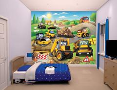 My First JCB Bedroom Scene - 43787 (decocentrum) Tags: 12 part mural részes poszter walltastic 3d popout collection spiderman disney fireman sam heroes interior children design wall gyerek faldekoráció