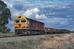Solo 80 (Bingley Hall) Tags: australia newsouthwales nsw transport transportation train trainspotting rail railway railroad diesel locomotive engine 80class alco comeng 8003 railpage:class=111 railpage:loco=8003 rpaunsw80class rpaunsw80class8003 freight