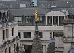 Golden figure over Moorgate (Matt From London) Tags: moorgate metropolitanlifeassurance statue golden spire