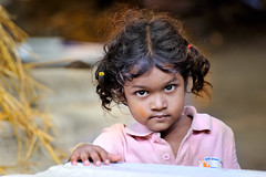 Smiling Indian Cute Little Girl (Nithi clicks) Tags: girl village poem