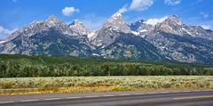 Grand Teton National Park (@rsjphotos) Tags: grandteton nationalpark landscape landmark scenic drive mountains peak snow greenary rocky