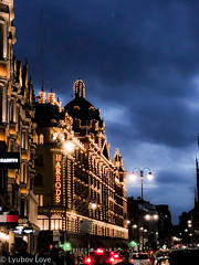 Sparkling Evening Harrods (Lyubov Love) Tags: england uk london britain queen harrods night evening sparkling sparkly shine light lights