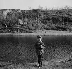 Fishing (aalmen) Tags: kidslife fishing 6x6 bnw analog fomapan iskracamera