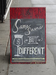 Same Same (knightbefore_99) Tags: great awesome cool strathcona beer tasting room sign board same different eastvan vancouver hastings pivo local craft