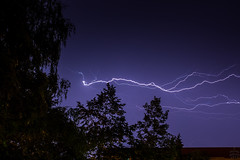 Lightning / 2017-08-02 (astrofreak81) Tags: lightning blitz gewitter strom hell knall licht couds wolken light night sky dark canon eos 1000d dresden 20170802 astrofreak81 sylviomüller sylvio müller
