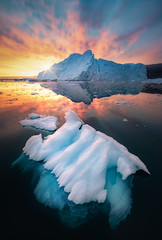Ice Cold Explosion (hpd-fotografy) Tags: arctic greenland scandinavia scoresbysund sunrise bluehour clouds cold cruise dramatic goldenhour ice iceberg landscape light sailing sea seascape sunset water weather wideangle