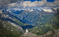 The idea of freedom (alnesleif2) Tags: mountain range valley hill peak ridge rolling landscape scenery snowcapped scenic steep val ferret dalsnibba 1500meter geiranger norway skywalk fjord blåbreen