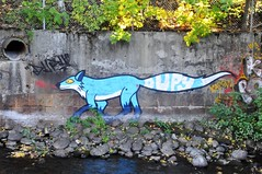 Blue Fox (kong niffe) Tags: akerselva oslo nydalen graffiti rev fox blue blå dupy norge norway