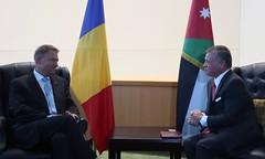 جلالة الملك عبدالله الثاني يلتقي الرئيس الروماني كلاوس يوهانيس على هامش اجتماعات الجمعية العامة للأمم المتحدة (Royal Hashemite Court) Tags: unga kingabdullahii kingabdullah
