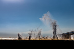 Breakwater (dayonkaede) Tags: breakwater ocean nature wave sunny windsurfing splash nikond750 240700mmf28