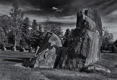 Anundshög standing stones (Tim Ravenscroft) Tags: anundshög sweden stones standing ancient archeology hasselblad hasselbladx1d monochrome blackandwhite blackwhite
