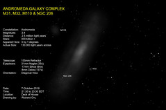 The Andromeda Galaxy (Odonata457) Tags: m31 m32 m101 ngc206 drawing andromeda galaxy