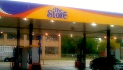 Mobil Gas station. (Maenette1) Tags: mobil gasststion car highwayus41 menominee uppermichigan flicker365 allthingsmichigan absolutemichigan projectmichigan