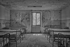 Disappeared Cross Hospital (Hélène Lili) Tags: urbex urban exploration urbaine hospital decay colors light bw black white nature architecture explore explorer canon 100d teamlili