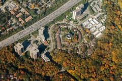 Toronto (Karen_Chappell) Tags: travel aerial flying flight toronto ontario autumn october landscape city urban orange green trees road street cityscape canada buildings