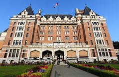 Fairmont Empress Hotel (Anthony Mark Images) Tags: victoria britishcolumbia canada fairmontempresshotel frontentrance gardens bc nikon d850 sundaylights