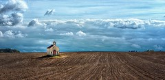 Midst of intensive farming (ramerk_de) Tags: hdr kehlheim lowerbavaria farming clouds field chapel bavaria