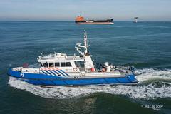 P3 (Peet de Rouw) Tags: patrolboat maasmond noordzee holland netherlands port portofrotterdam aerial djimavicplatinum drone policeboat politie seaportpolice zeevaartpolitie nationalepolitie