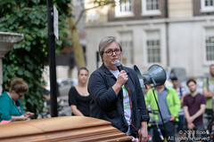 Caroline Russell, Funeral for the Unknown Cyclist - 13 October 2018 (The Weekly Bull) Tags: climatechange london parliament stopkillingcyclists uk asthma campaigning cycling cyclists demonstration diein diesel funeral lungdisease pollution procession protest roadsafety transport carolinerussell greenparty