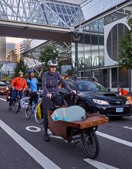 Portland Uber Bike? (coljacksg) Tags: custom childrens seat wooden woman cyclist wierd portland keep pedicab bycycle