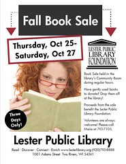 Fall Book Sale (Lester Public Library) Tags: 365libs lesterpubliclibrary librariesandlibrarians lpl library lesterpubliclibrarytworiverswisconsin libraries libslibs books book booksale lesterpubliclibraryfoundation foundation librarysupport publiclibrary publiclibraries tworiverswisconsin wisconsinlibraries readdiscoverconnectenrich