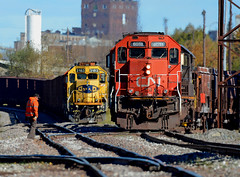 Lakehead (Missabe Road) Tags: cn 6013 bnsf 3183 dock6 lakehead job 110 r921
