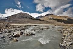 Glacial remains (Rudi Verspoor) Tags: glacier canada rockies water sky clouds alberta jasper walking hiking travel exploring cold september ice wind stream river