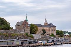 Akershus Castle from the fijord (long.fanger) Tags: akershusfestnig norway oslo oslofjorden castle