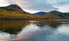 Sunrise (Percy G. Ulsamer) Tags: maine baxterstatepark baxter trees fall autumn water lake pond hills mountains sunrise morning dawn