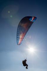 The slope soarer-6356 (toniertl) Tags: astonrowant cowleazewood tertlphotoxoncouk parachute hangglider updraught wind breeze hillside fun excitement risky dangerous flying unpoweredflight blue
