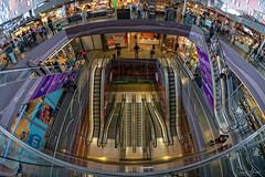 Going down? (Samsul Adam) Tags: markthal rotterdam netherlands holland europe 2018 fujifilm xt1 samyang 8mm f28 fisheye escalator escalators