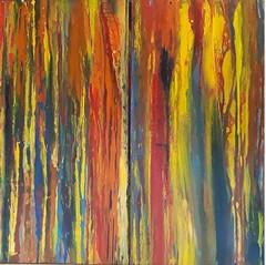 In the mystical Jungle (Peter Wachtmeister) Tags: art artinformel mysticart modernart popart artbrut phantasticart minimalart abstract abstrakterimpressionismus abstrakt surrealismus surrealism acrylicpaint hanspeterwachtmeister