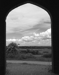 Sissinghurst Castle and Garden - Where Every Cloud Has a Silver Lining! (antonychammond) Tags: sissinghurst sissinghurstcastlegarden vitasackvillewest haroldnicolson clouds landscape entrance kent england courtyard thegalaxy contactgroups neroametà blackwhiteaward blackdiamond cloudscapes nwn
