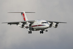 RAF BAE146 (Dougie Edmond) Tags: military aircraft airportegpkpikairplaneaircraft prestwick scotland unitedkingdom gb