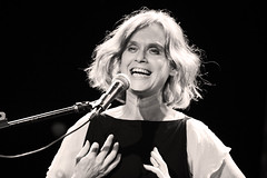 Juana Molina Masters the Art of Laughter and Forgetting (Argentina) (kirstiecat) Tags: juanamolina milankundera laughingandforgetting argentinian folk music live concert band monochrome blackandwhite noiretblanc monochromemonday female woman musician guitarist singer