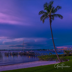 Blue Sky Holiday (Thüncher Photography) Tags: fujifilm fuji gfx50s fujigfx50s fujinongf3264mmf4rlmwr mediumformat scenic landscape waterscape nature outdoors sky clouds colors reflections beach tropical palmtrees boats harbor intracoastal stuart florida southeastflorida treasurecoast