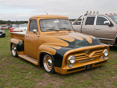 PAS 319  1955  Ford F100 pickup (wheelsnwings2007/Mike) Tags: pas 319 1955 ford f100 pickup american auto club north west meeting barton city airport september 2018